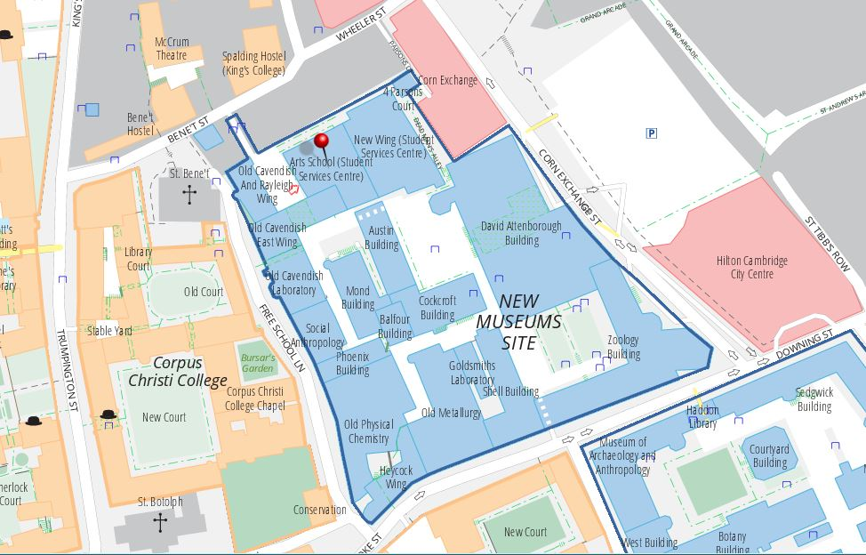 Location of the Student Services Centre